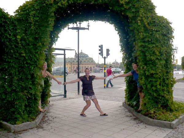 Under an Archway