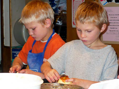 Boys Helping in the Kitchen