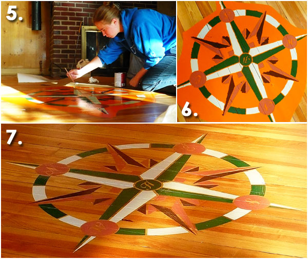 Painting a Compass Rose Process