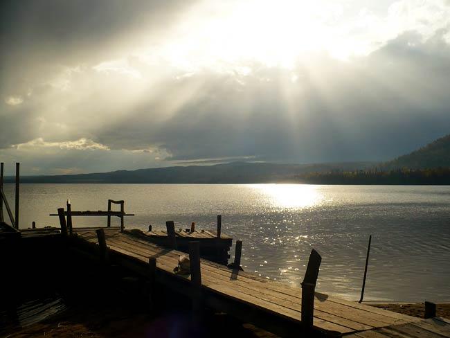 Sun Over Water in Michigan