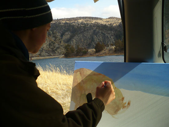 Painting a Montana River