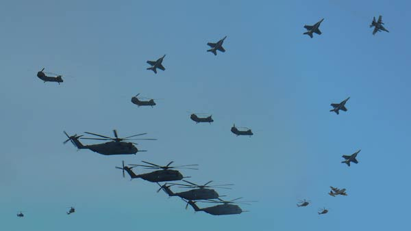 Centennial of Naval Aviation Flyover