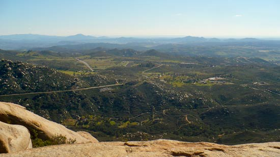 View of the Valley from Mt. Woodson