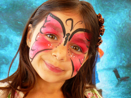 Girl With Butterfly Face