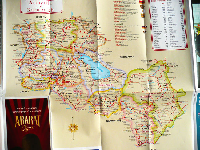 Tourist Map of Armenia