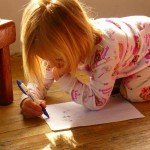 Amie Drawing a Picture