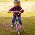 Elsa on her Bike