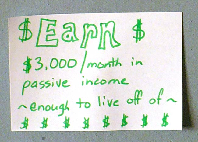 Goal to Earn Passive Income