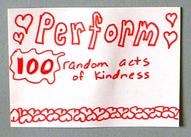 Goal to Perform Random Acts of Kindness