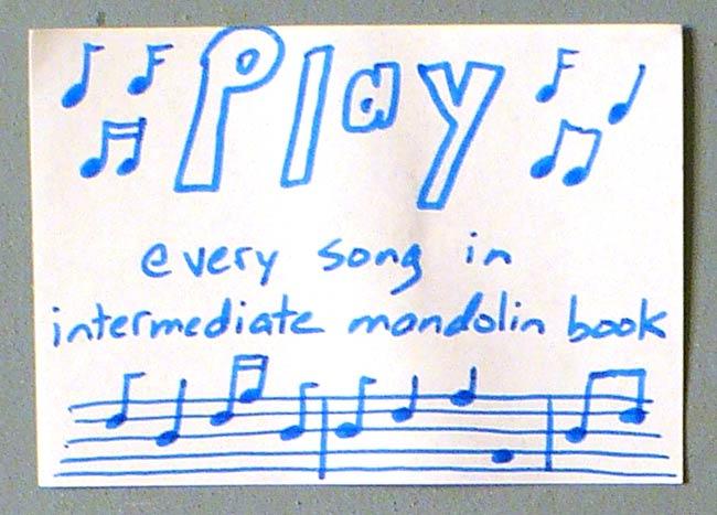 Goal to Play Through my Mandolin Book