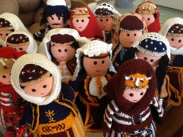 Hand-Crocheted Dolls from Talin, Armenia