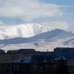 Snowy Mountains Balcony View