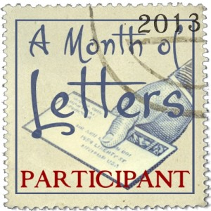 Month of Letters Challenge Participant