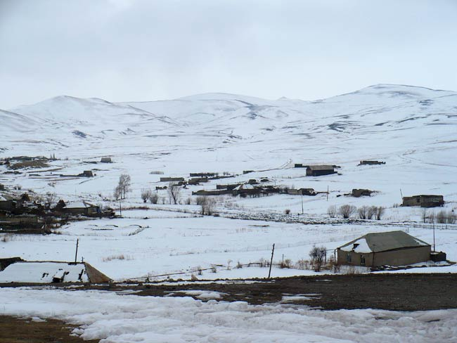Tiny Armenian Village in the Winter