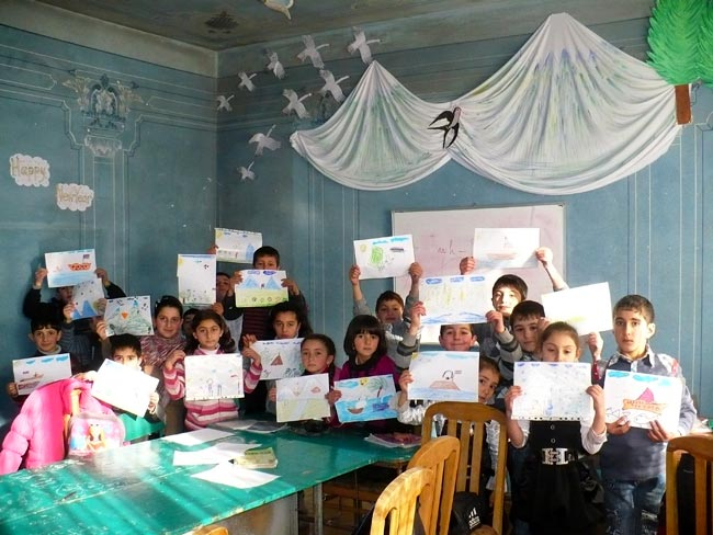 Karitas Kids with One World Art Exchange Drawings