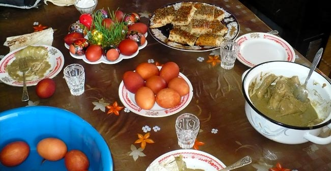 Easter Table Spread
