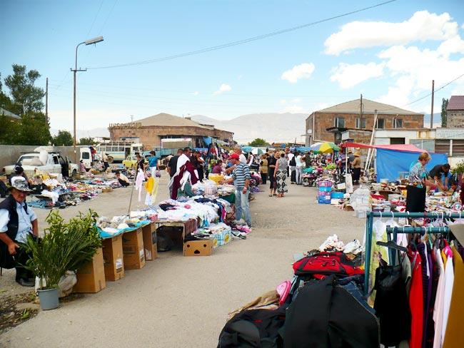 Outdoor Market in Armenia