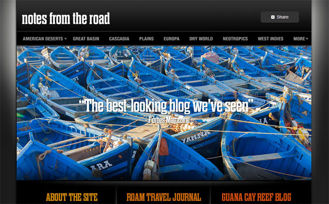 Notes From the Road Main Page Screenshot