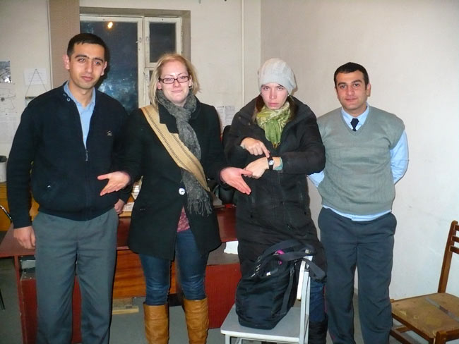 At the Spitak Police Station