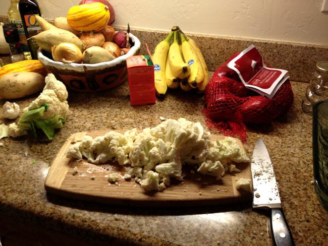 Cutting Cauliflower