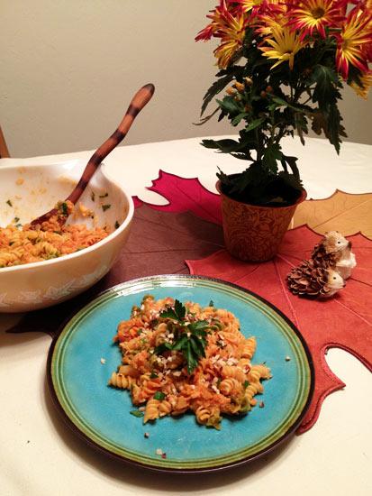 The final result: Cauliflower Pasta
