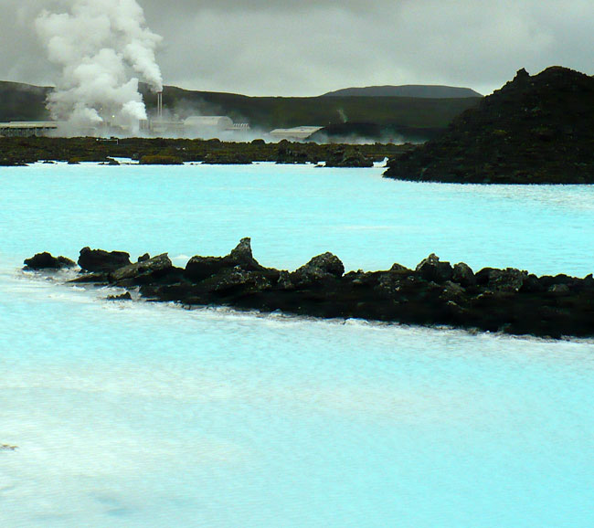 The Blue Lagoon in Iceland when I was there in August
