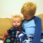 Older Brent and New Brother Blake
