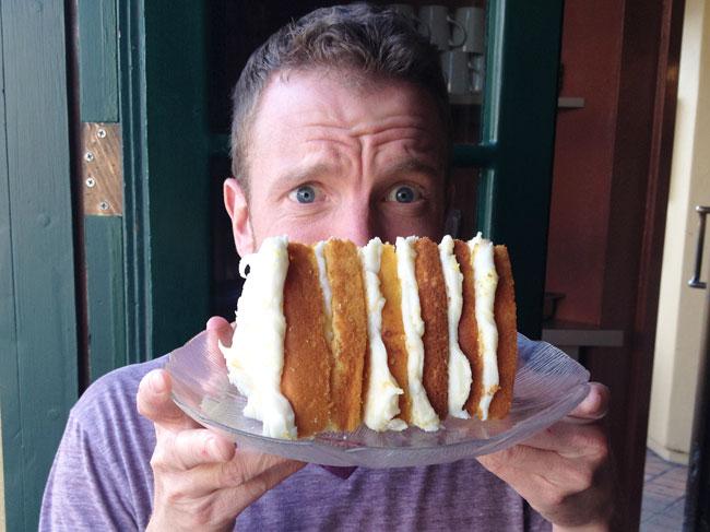 "The Biggest ""Slice"" of Lemon Cake I've Ever Seen"