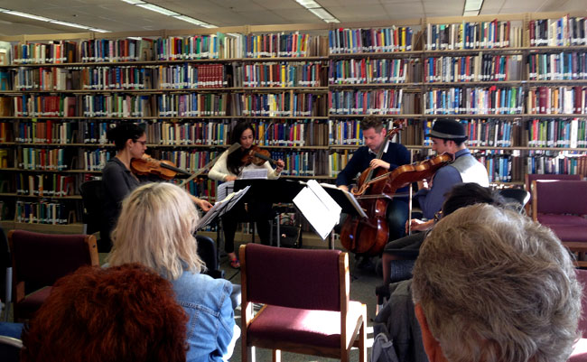 Catalyst Quartet at the Library