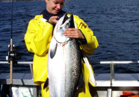 I went deep sea fishing all day long and had king salmon and peace of mind to show for it.