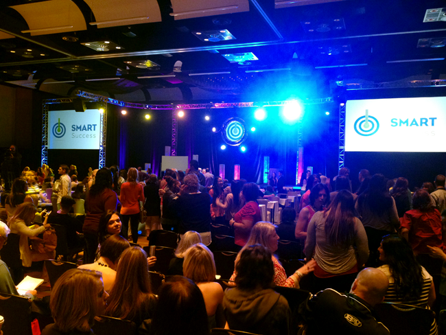 Smart Success Seminar initially looked like a rock concert. Then the lights went out.