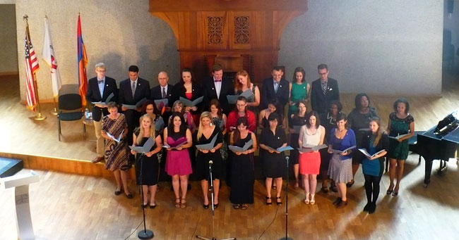 Swearing in Ceremony for Peace Corps Armenia 2013