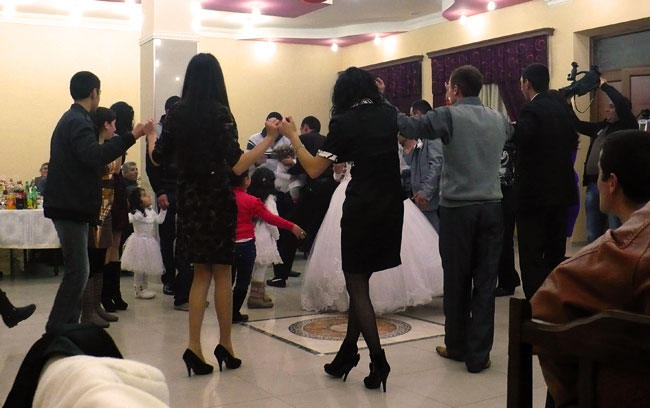 Typical sight at an Armenian wedding. Dancing for hours.