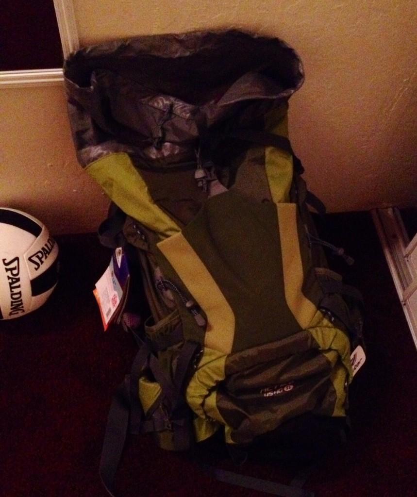 My New Hiking Backpack