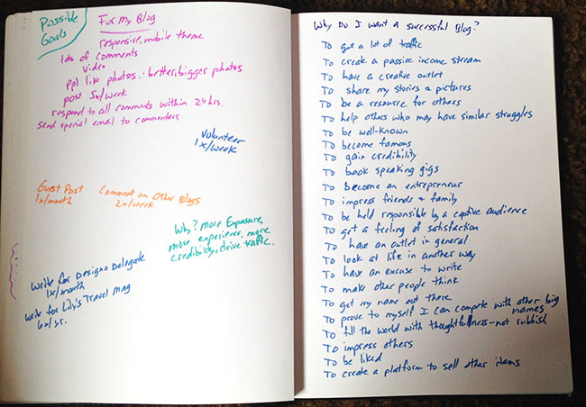 Why would someone want a blog anyway? I brainstormed a list of my reasons.