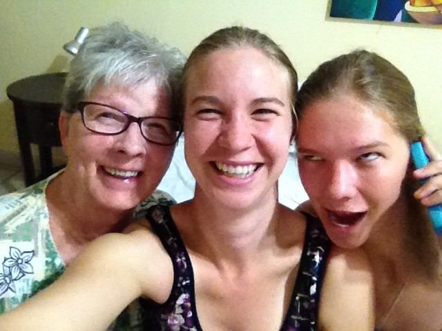 The three of us, including my goofball sister.