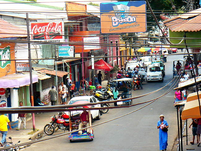 The Bustling Streets of Chinandega, from our Second Floor Balcony