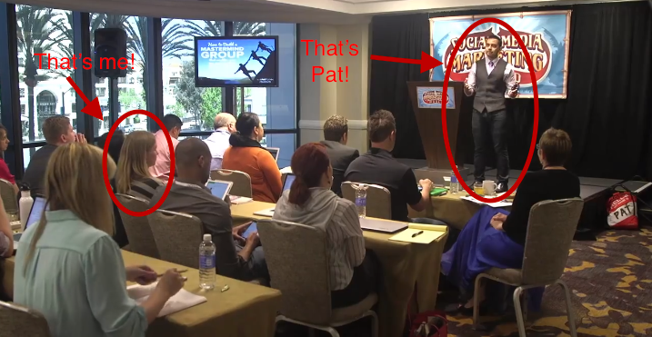 Proof that I was at Pat Flynn's Mastermind Info Session. (Picture is from Pat's blog.)