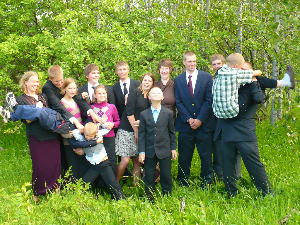 All 15 kids in my family. This picture was taken a few years ago.