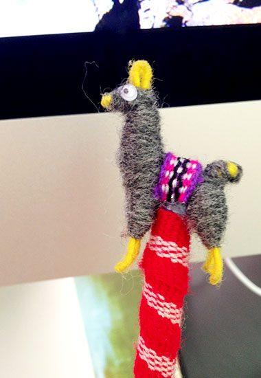 What you really need is someone to appreciate your awesome llama pen.