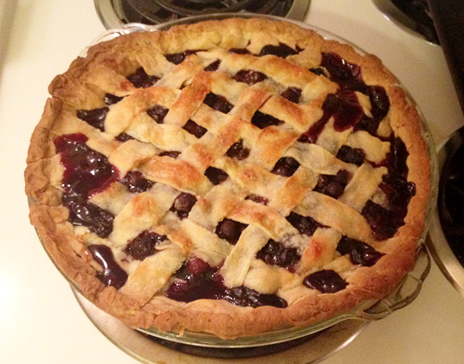 I'm thankful that my Blueberry Pie turned out perfectly! Can't wait to eat it!