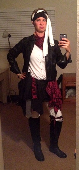 No reason for this pic in this post. Just wanted to share my Halloween pirate costume.