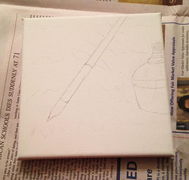 Quill Pen Sketch
