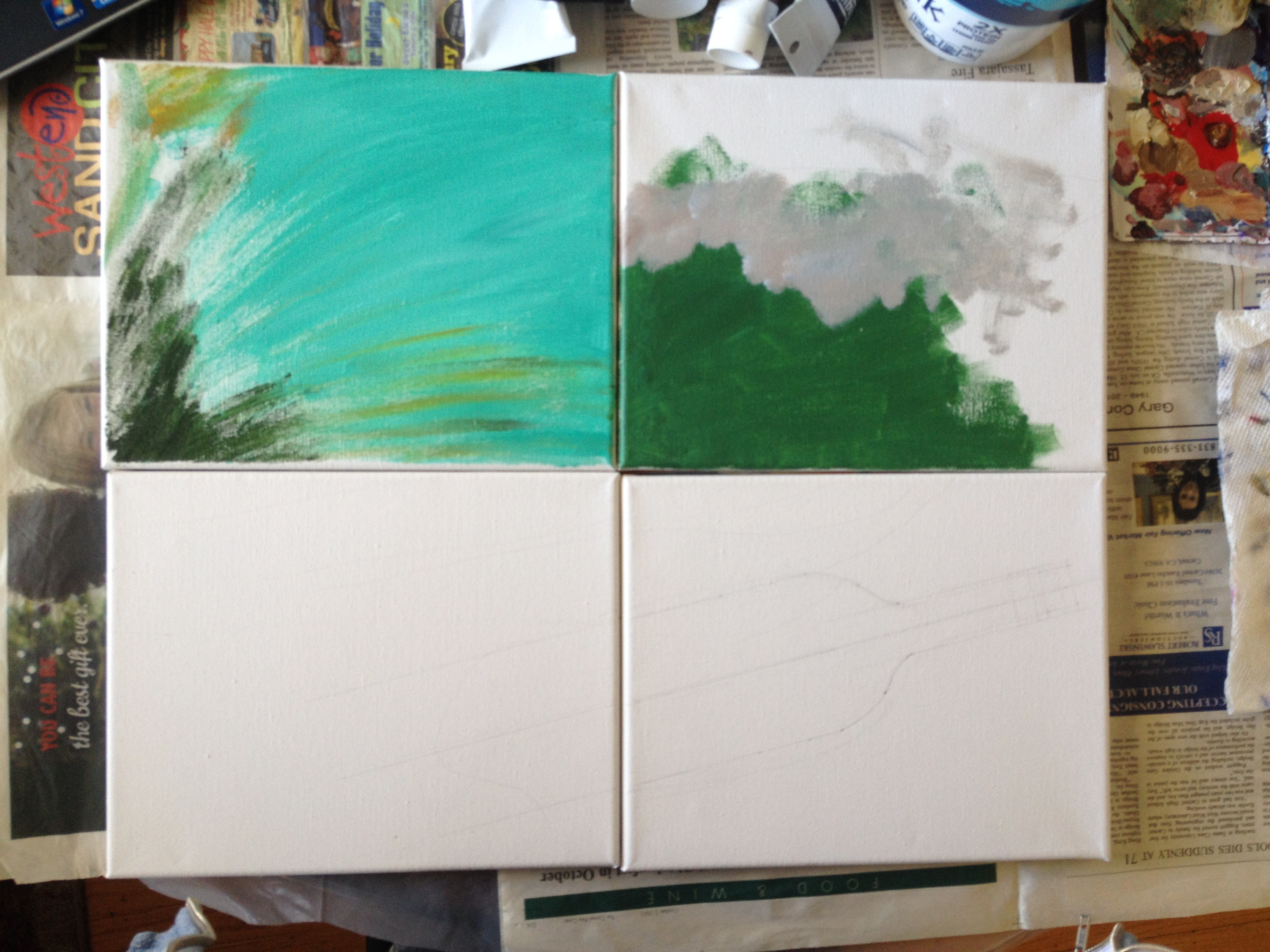 Beginning canvases