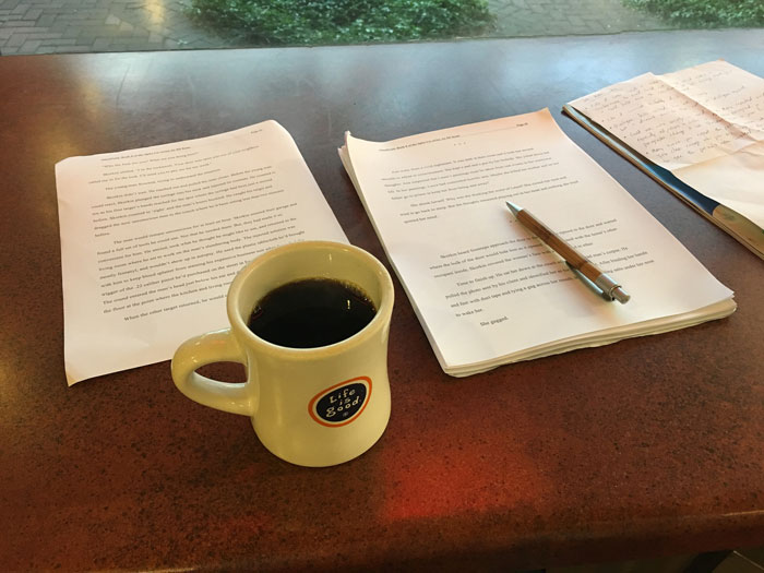 Goal-setting and writing with coffee. My fav.